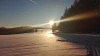 Zimní Vysočinou na běžkách - běžecký okruh na Rozkoši.