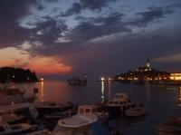 Rovinj - malebné chorvatské město na Istrii.