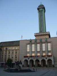 Vyhlídková věž Nové radnice v Ostravě.