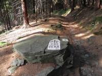 Napoleonův hraniční kámen.