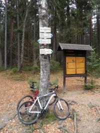 Na kole kolem Schwarzenberského kanálu.