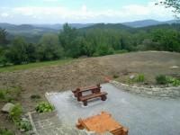 Nově vybudovaná terasa na Dobré Vodě u Hartmanic