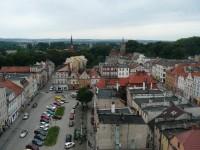 pohled z radnice na náměstí
