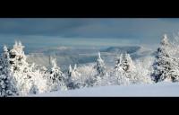 Pohled z Radhošťa směrem na Lysou horu