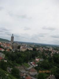 Pohled z vyhlídky na město