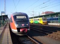 linka U8 v Děčíně hl.n. vedená jednotkou DB řady 642 Desiro s klimatizací