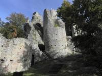 Frýdštejn, pohled z dolní části hradu