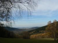 Městišťské rokle, pohled na Želivský vrch