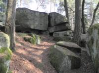 Boží kámen, vrcholová skála
