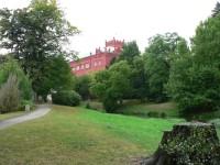 Klášterec nad Ohří, pohled na zámek z parku