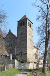 Vyskeř, věž kostela