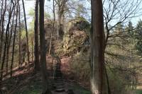 Pařez, schodiště na hrad