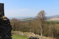Kumburk, pohled z hradu na Bradlec