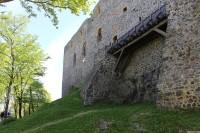 Radyně, severní stěna hradu
