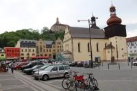 Náchod, město, zámek a zámecký park.