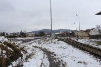 Pohled od mostu k nádraží