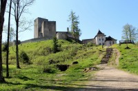 Románský hrad Landštejn.