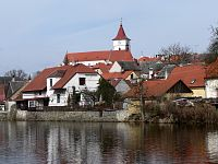 Horažďovice, město nad řekou Otavou.
