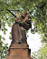 Svijany, socha sv. Antonína z Padovy.