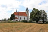 Kostel sv. Bartoloměje v Kvašňovicích.