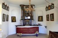Maleč, vnitřek kaple