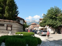 Bansko, město na úpatí Pirinu.