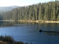 Podzimní cesta k jezeru Laka.