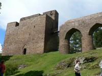 Hrad Velhartice, most a věž Putna