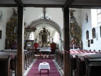 Rejštejn, vnitřek kostela sv. Bartoloměje