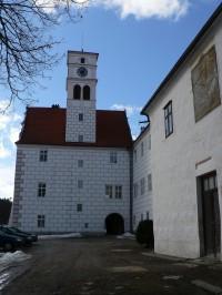 Žichovice zámek, budova s věží