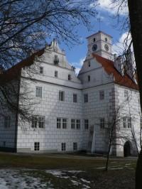 Žichovice zámek, západní část