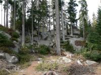 Medvědí stezka, jeden z vrcholů u stezky