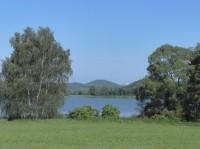 Panský-nezamyslický rybník pohled z východního břehu