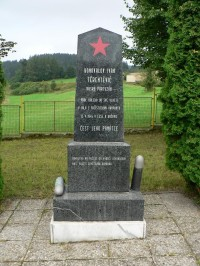 Kašovice, památník ruského partyzána
