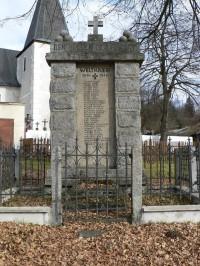 Nicov, pomník padlým