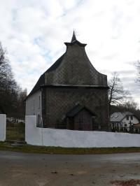Nicov, západní stěna kostela