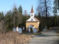 Poutní kaple Dobrá Voda u Stříteže.