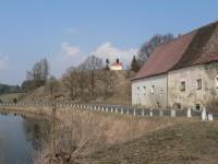 Frymburk, kaple v místech kde stával hrad