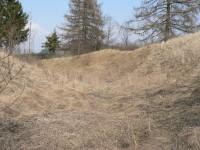 Frymburk, hradní příkop