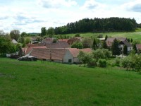 Svaté Pole, pohled na střed obce