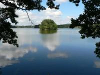 Údolím Zábořského potoka k rybníku Velká Kuš.