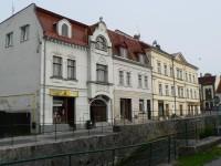 Chřibská, domy na náměstí