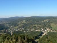 Tanvaldský Špičák, pohled na Jizerské hory