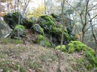Severní strana hřebene