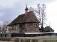 Veliny - dřevěný kostel sv. Mikuláše se zvonicí