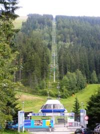 lanová dráha na Pláň - ski areál Svatý Petr