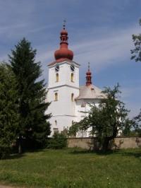Velešice kostel Nanebevzetí Panny Marie