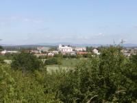 Veselský háj - Kákovice, výhled na Vysoké Veselí a Kozákovský hřbet v pozadí