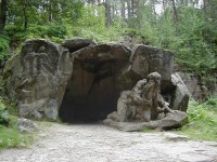 Braunův betlém - poustevník Garinus