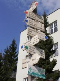 turistické rozcestí Trutnov - náměstí Republiky